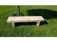 Double railway sleeper bench seat Summer Furniture Set brand new Loughview Joinery LTD