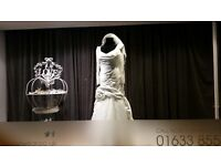 Designer hand made, fishtail wedding dress lots of sparkle, bead and diamante detail