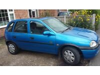 450 O.N.O 1.4L Corsa Breeze, 9 Months MOT (Expires June 20th 2019), 80578 Miles, 2 New Rear Tyres.