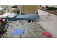 Snail Vacuum and Heated Ironing Table, excellent condition.