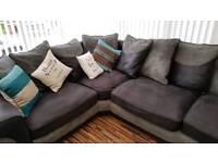 L shape sofa and cuddle chair