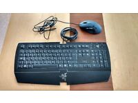 Razor Arctosa Keyboard and Logitech Mouse