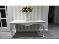 Beautiful carved white coffee table