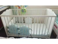 Baby changing table and cot