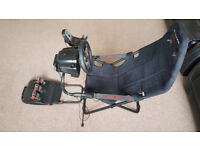 Logitech G27 steering wheel and pedals + Playseat Challenge *Like NEW!*