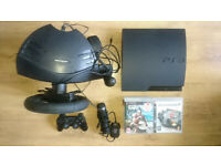 PS3 Playstation 3 bundle with steering wheel