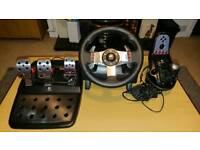 Logitech G27 wheel pedals and shifter