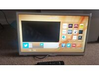 "JVC LT-24C661 Smart 24"" LED TV, White, Access content on Netflix,HD Ready 720p"