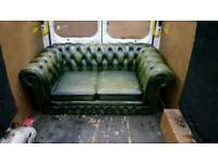 Green Chesterfield 2 Seater Sofa