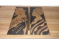 AFRICAN STYLE WOOD PLAQUES
