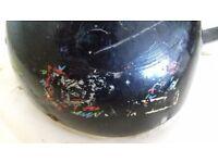 Vintage motorbike helmet
