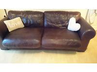 seater leather sofa