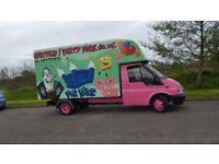 full bouncy castle business van and all equipment