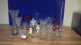 Collection of Vases and Glassware