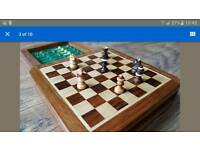 Wooden magnetic Travel Chess 1.5cm Square