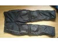Koden motor bikev trousers. Large. With lining