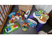 Branded toy bundle including v-tech, leapfrog, little tikes