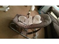Chicco bouncer,very comfortable with recline positions.