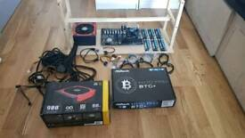 Mining rig | mother board, power supply, ram, processor, frame
