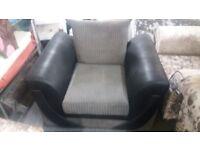 Zion Arm Chair in Black faux snakeskin