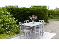 Extending Dining Table, and 4 Chairs. Shabby Chic, Paris Grey. Delivery available.
