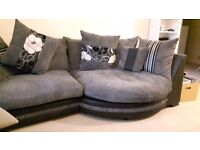 Corner sofa and swivel chair only 6 months old