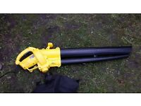 Blower for the garden in yellow colour like new excellent condition with the cord lead