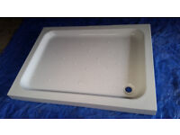 Unused Large White Shower Tray