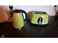Next lime green kettle and toaster set