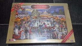 1000 piece Limited Edition Christmas Market Jigsaw by Gibsons - Sealed & unopened