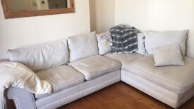 Cream corner sofa - good condition