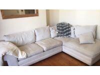 Cream corner sofa - good condition