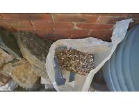 Free bag of clean pea shingle