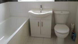 Bathroom wc, basin and cabinet for sale