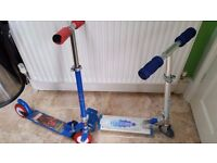 2 kids foldable scooters for £5 - 2 wheel and 3 wheel