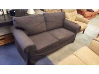 Dark Grey Fabric Two-seater Sofa in Great Condition