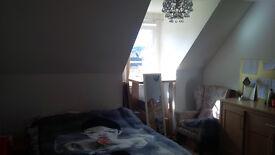 Double Bedroom in Powderhall. Duplex top floor 3 Bedroom flat. Details within.