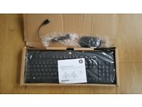 Brand New Boxed Hp USB Keyboard And Hp Mouse