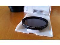 ND Filter - Neutral Density Variable Slim Fader - Adjustable ND2 to ND400 - 52mm