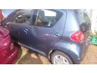 Toyota Aygo for sale , 2008, 4 door , dent in the front spares repairs start drives a little