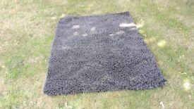 Dunelm Charcoal shaggy rug - 70 x 120cm