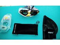 Predator X Zoggs Flex Swimming Goggles with Maru Nose Clip & Cap