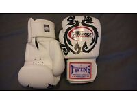 New unused Twins 16 oz leather thai boxing gloves
