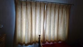 Laura Ashley thermal lined curtains with pole and fitings