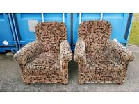 Nice vintage antique art deco pair of Victorian armchairs chairs. Ideal for upholstery project