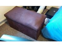 Foldable microfibre Ottoman footstool from Dunelm