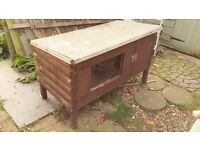 Wooden Rabbit Hutch on legs - slight tlc required