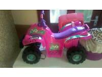 Little girls quad bike comes complete with charger