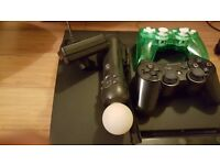 PS3 Slim 320 GB with Move Controller and 12 games