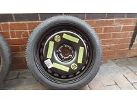 """NEW SPARE SPACE SAVER GENUINE SEAT VW AUDI A4 A5 A6 SHARAN 8K0601027D 125 70 19"""""""